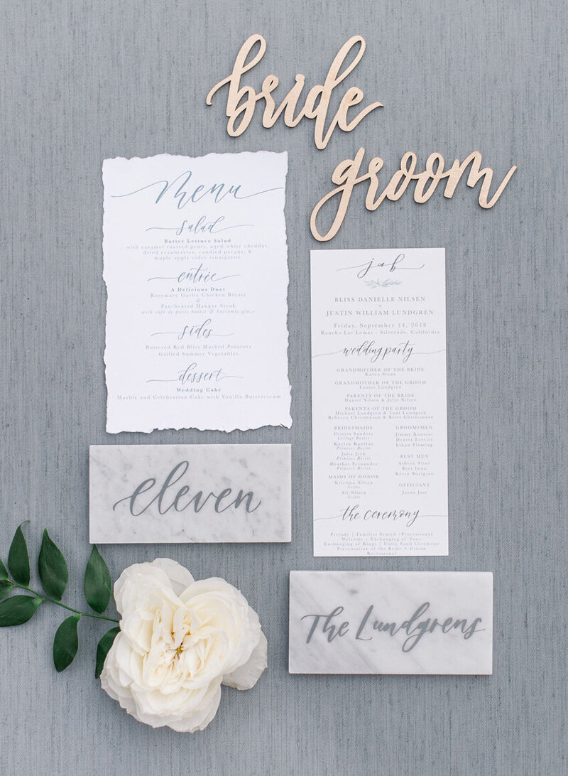 pirouettepaper.com | Wedding Stationery, Signage and Invitations | Pirouette Paper Company | Table Numbers 55