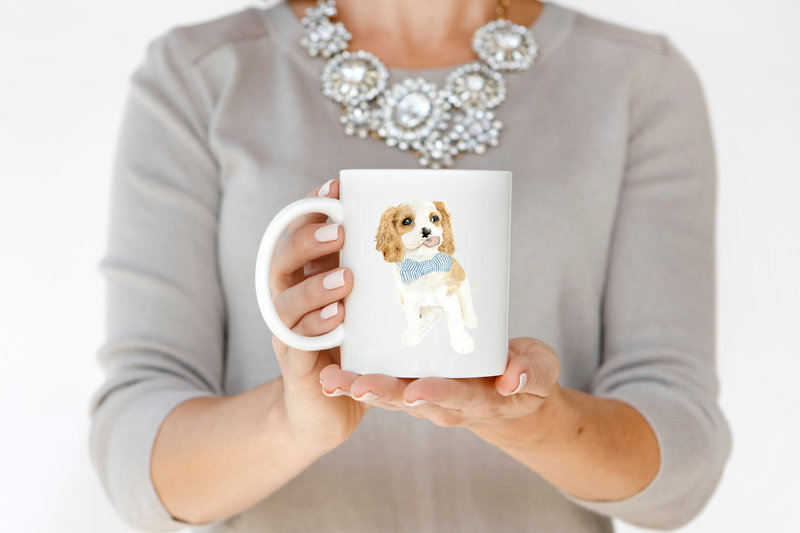 watercolor-pet-portrait-coffee-mug-Bingley-The-Welcoming-District
