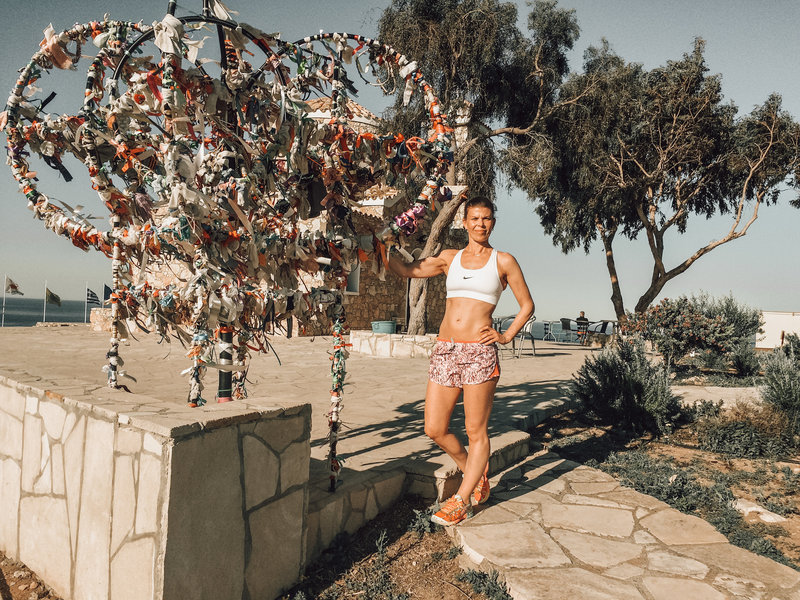 KT Chaloner in Cyprus with fit and feelgood