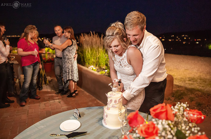 Cake Cutting at The Fort Restaurant Wedding