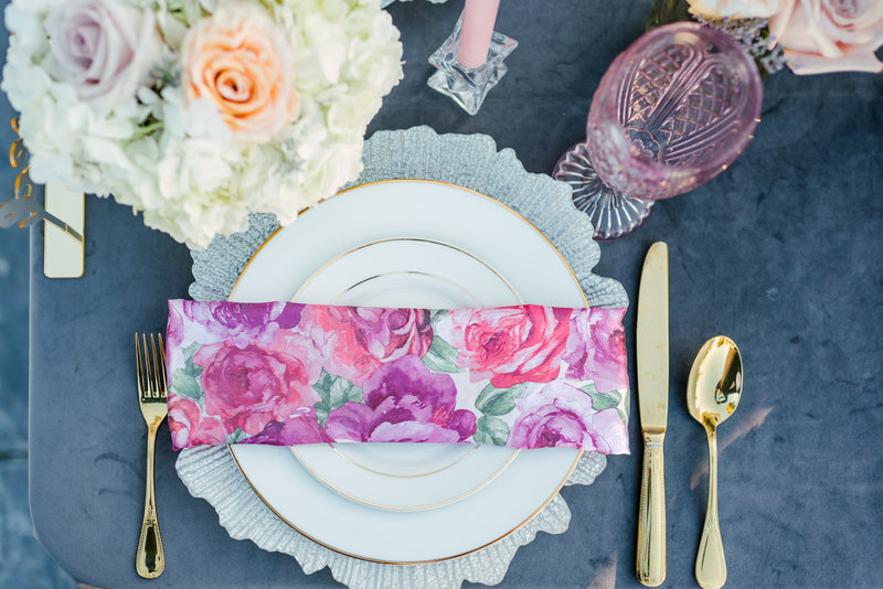 place setting wedding table