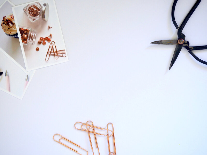 Canva - Flat Lay Photography of Paper Clips and Scissor