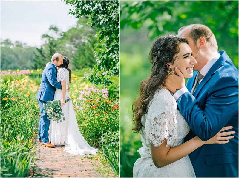 Knoxville Wedding Photographer | bride and groom hugging in field in chattanooga tennessee