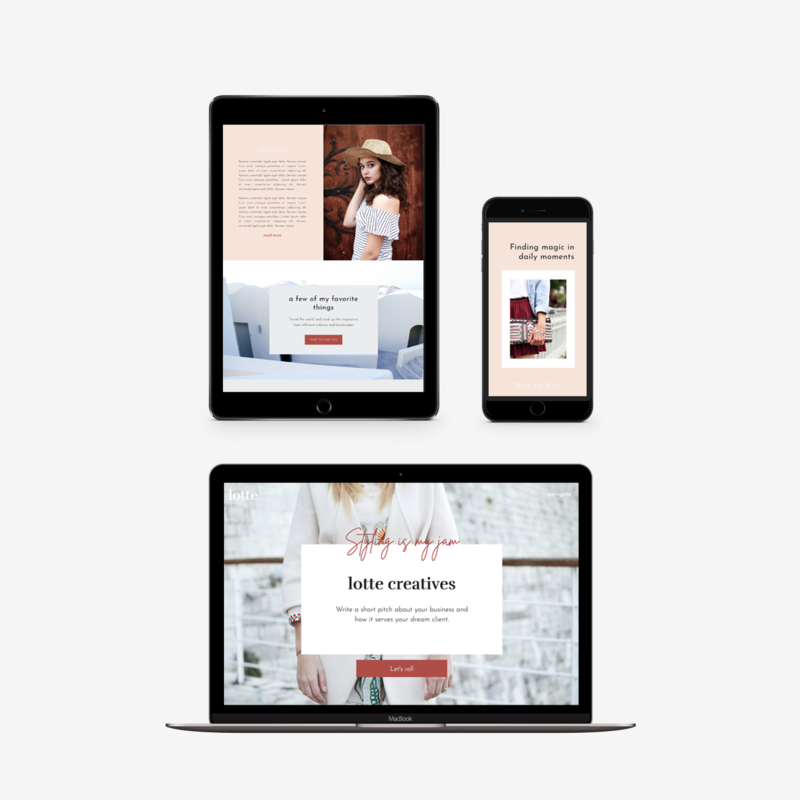 The Roar Showit Web Design Template Lotte Responsive