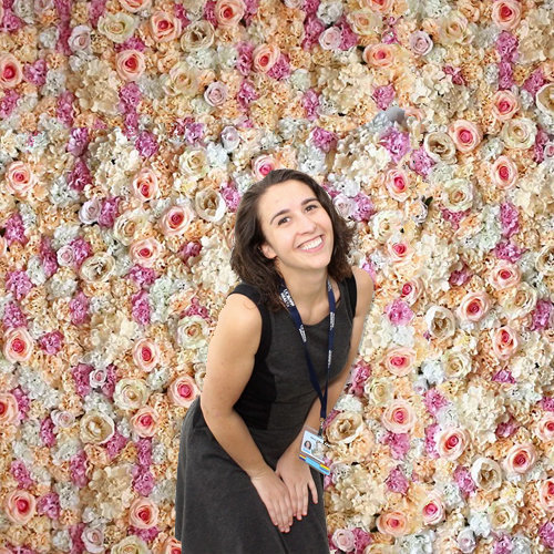 floral backdrop photo booth