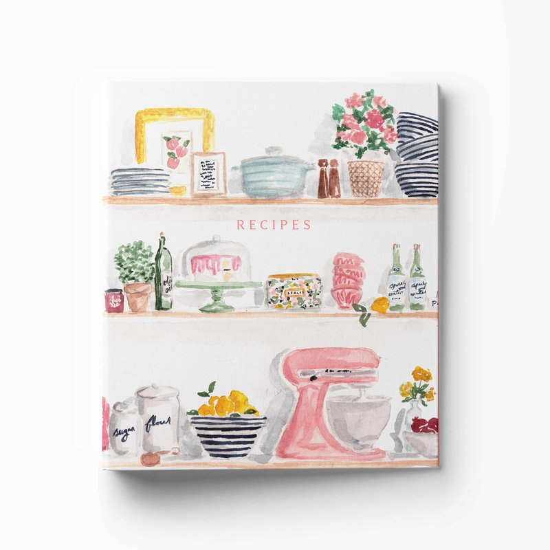 kitchen shelves binder mockup low res