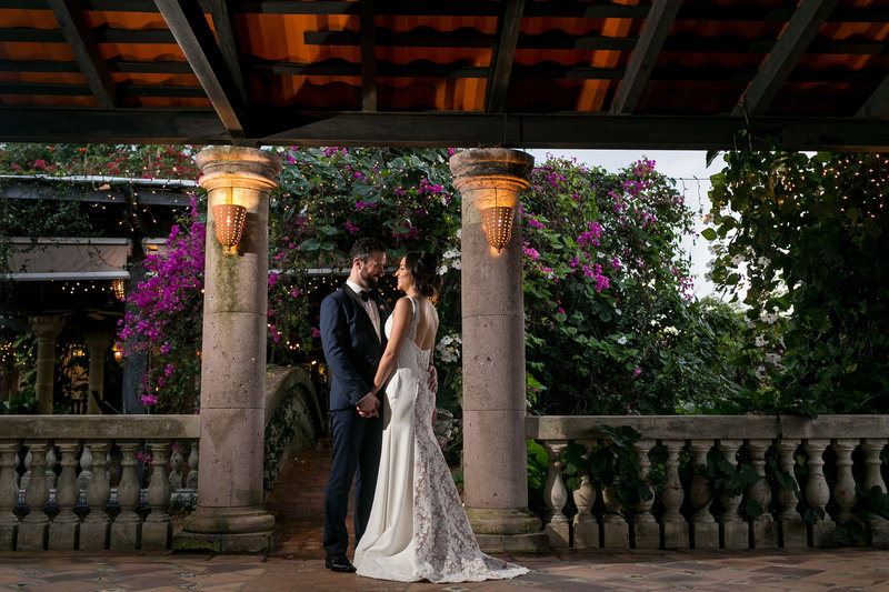 Bride and Groom at  Hacienda Siesta Alegre Destination Wedding