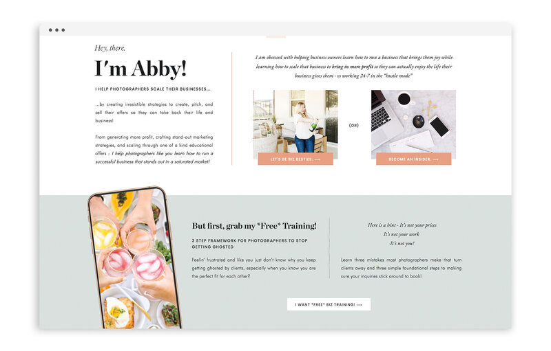 Abby Waller - Custom Brand and Showit Website Design by With Grace and Gold - 4