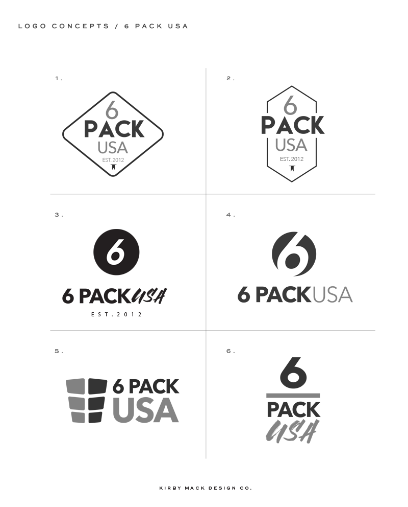 6pack_logo_concepts