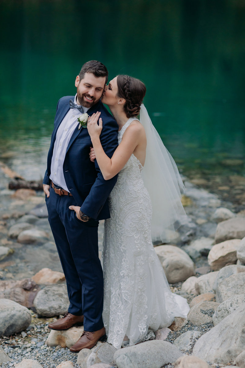 banff cascade pond autumn intimate elopement wedding