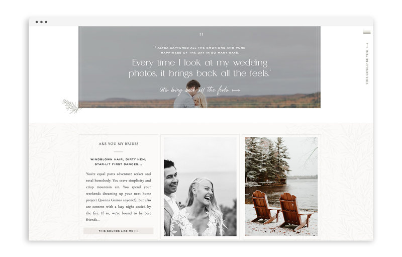 Alysa Rene Photography - Custom Brand and Showit Web Design Website by With Grace and Gold - Photo - 29