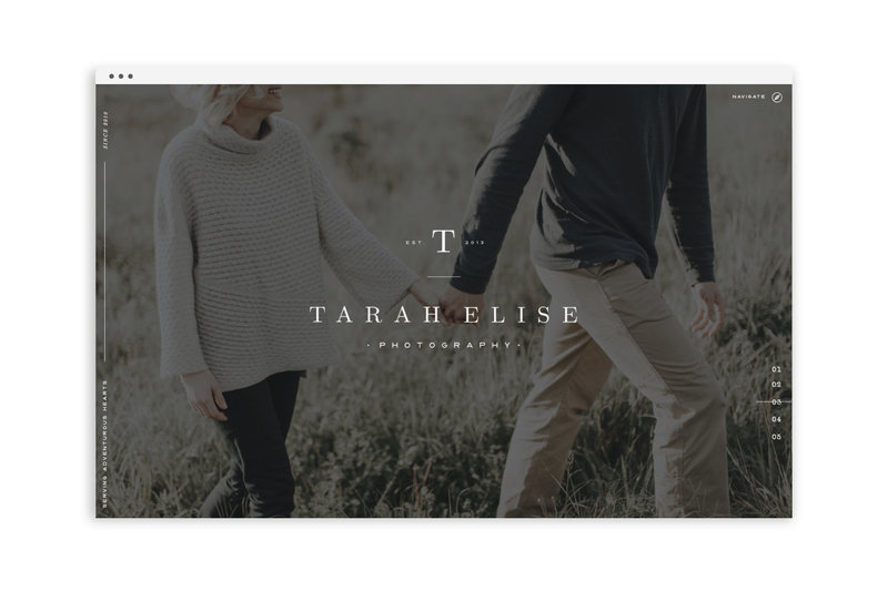 Tarah Elise Photography - With Grace and Gold - Logo Design, Stationery Design, and Web Design for Creative Women in Business - Photo - 1