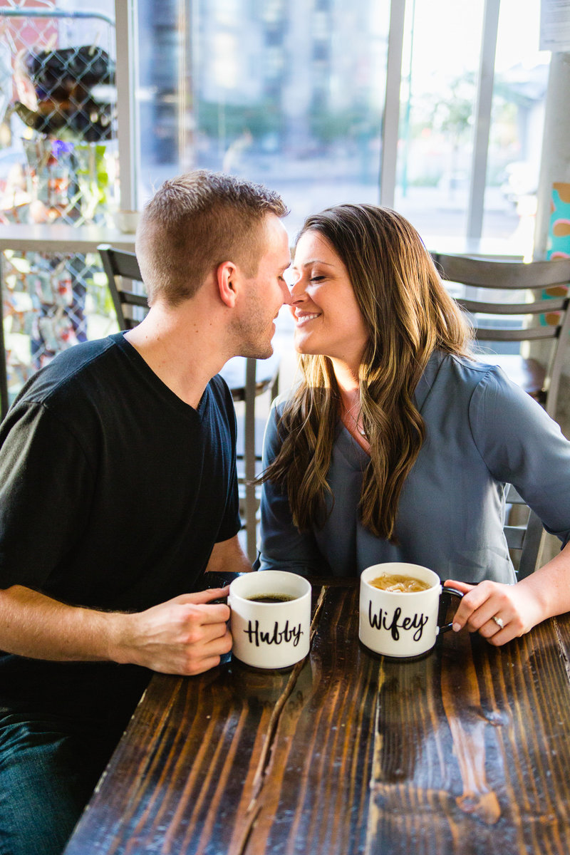 Phoenix Engagement Photographers Coffee Shop