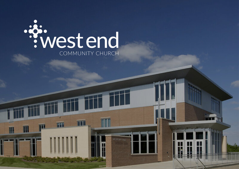 Case Study for West End Community Church's company logo and brand identity