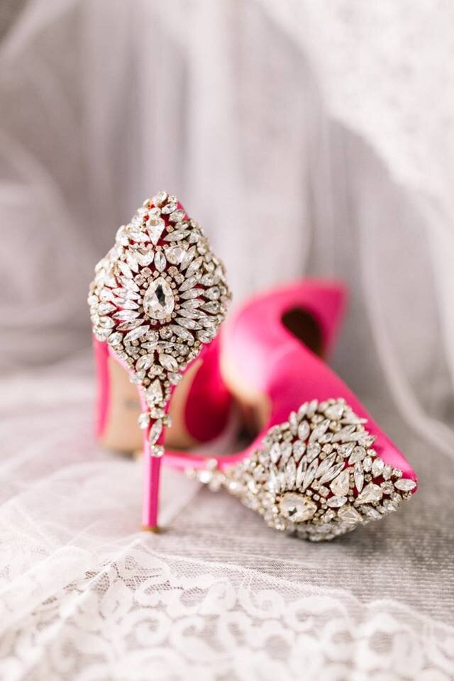 hot-pink-bridal-shoes-badgely-mischka
