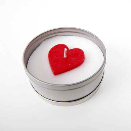heart topper tin candle course