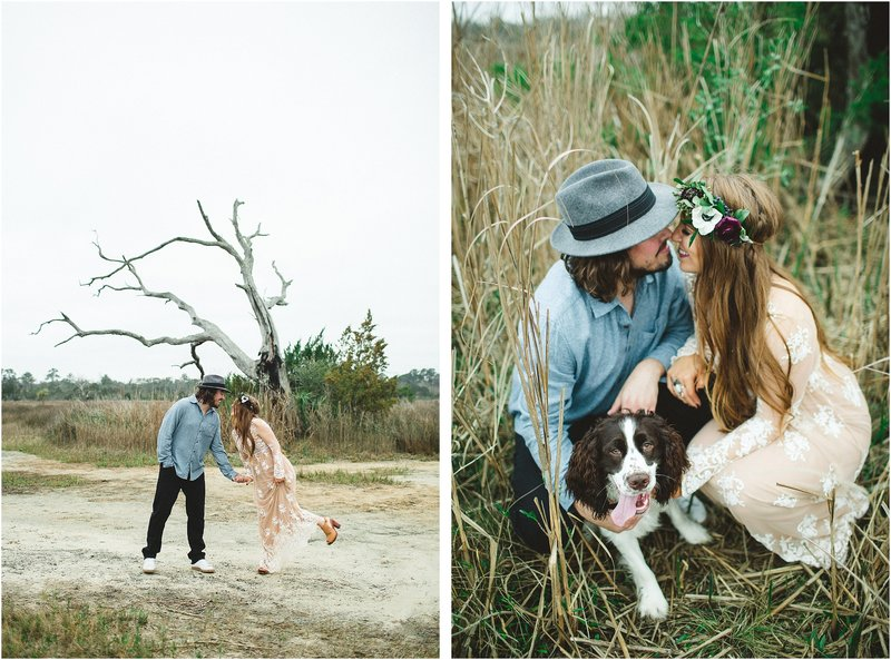 savannah bohemian engagement session