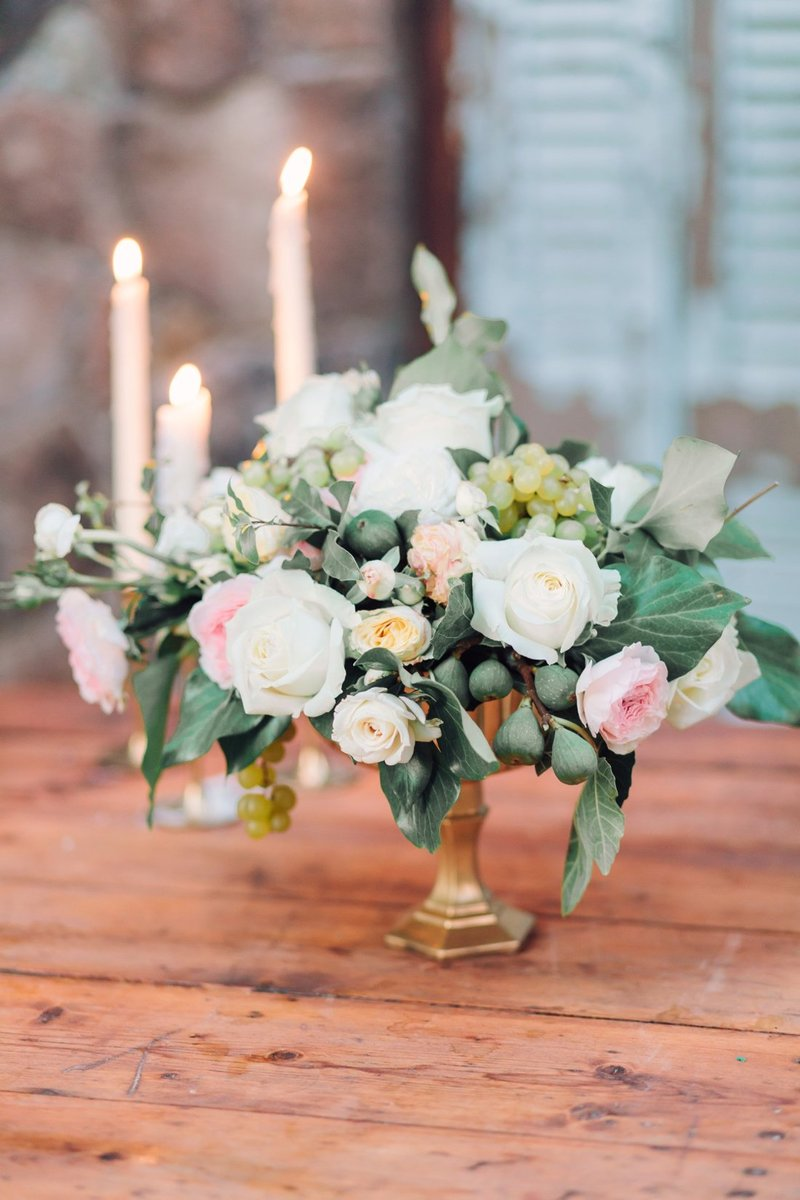 Wedding Photography, floral centerpiece