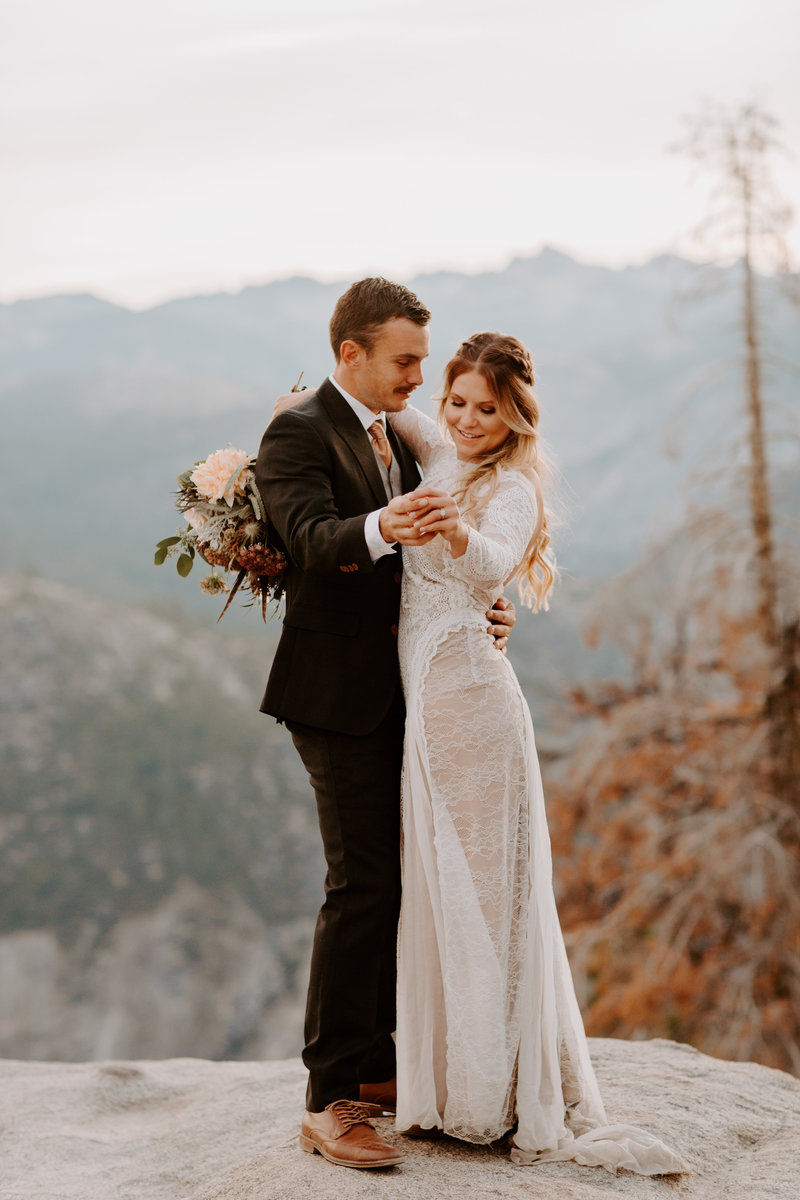 Sunrise elopement at Glacier Point by Skyler and Vhan