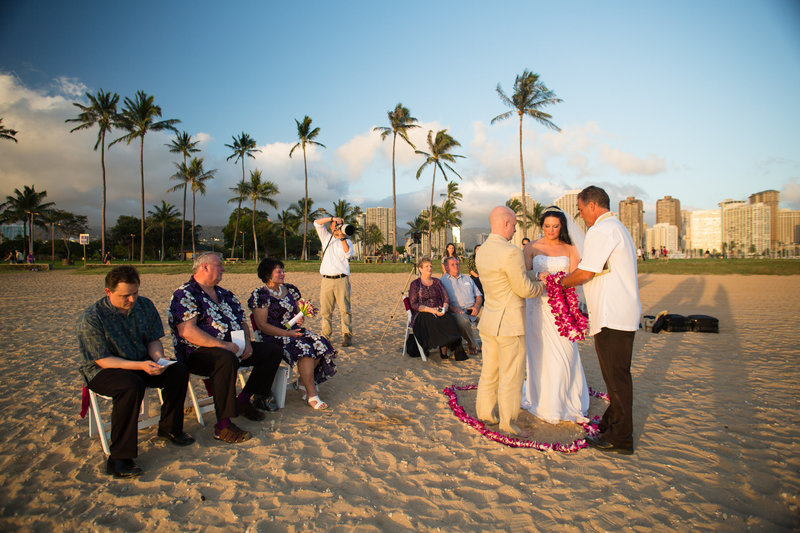 Wedding on Magic Island in Hawaii
