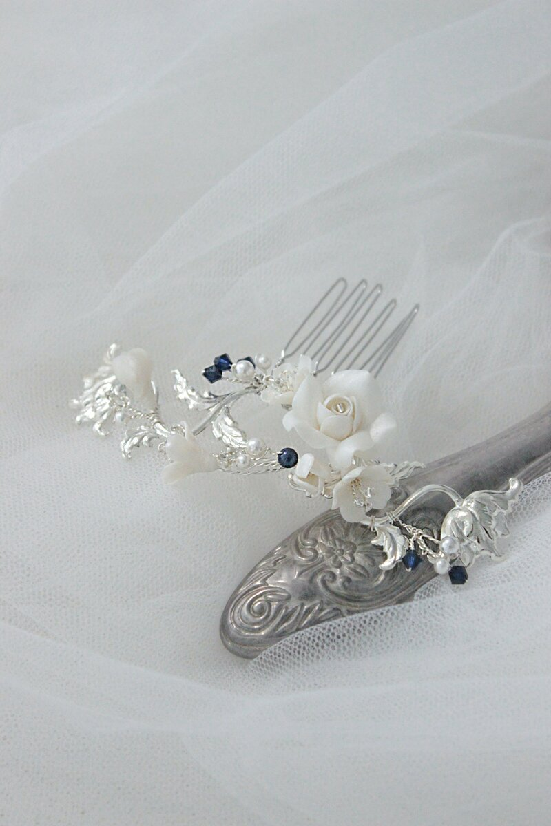 bridal comb for side swept hairstyle and loose hair in Austalia