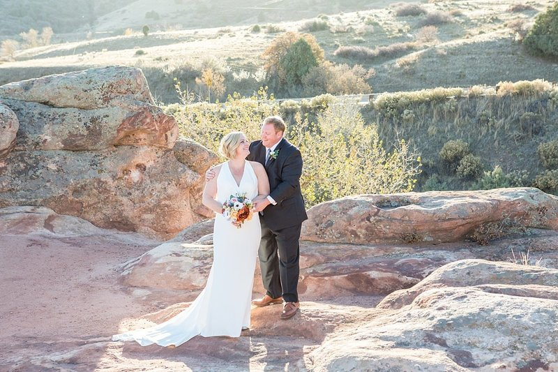 Colorado mountain wedding photographer with Deanna and Jason in Morrison, CO