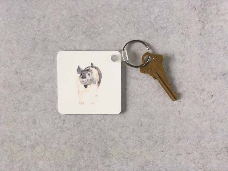 watercolor-pet-portrait-pig-keychain