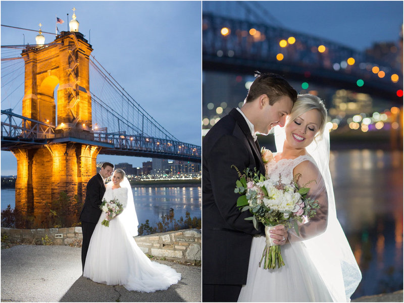 Cincinnati Night time wedding photography