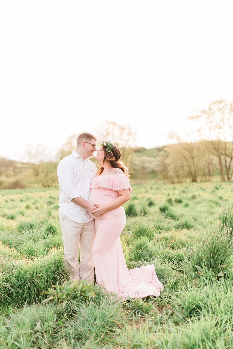 Couples maternity portrait by Houston Lifestyle Photographer, Alicia Yarrish Photography