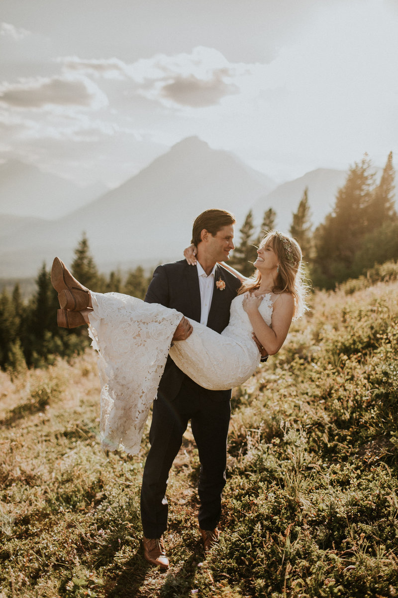 Glacier MT Overlook Intimate Wedding