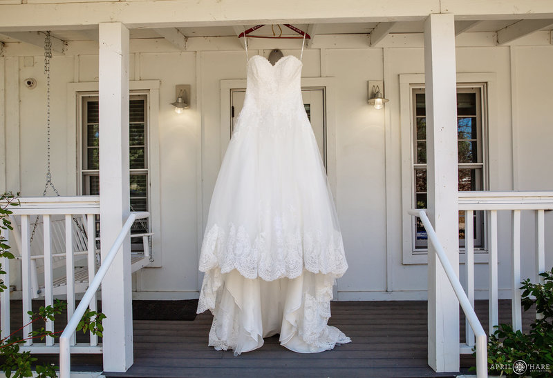 Wedding Dress at Bridal Cottage at The Barn at Raccoon Creek in Littleton CO