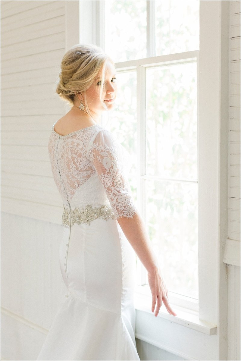 Classic Pearl Snap Hall Bridal  Photos | Gerogetown, Texas