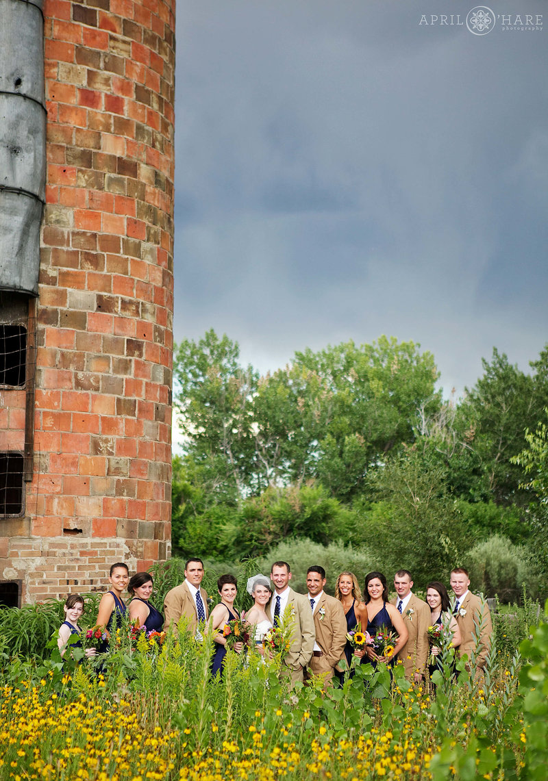 Wedding Party photography at Denver Botanic Gardens Chatfield Farms