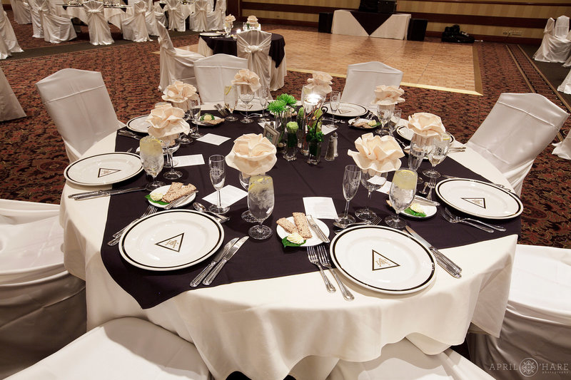 Wedding-Reception-Table-set-up-for-Dinner-at-Denver-Athletic-Club