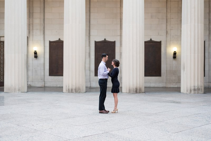 Nashville-wedding-photographers-War-Memorial-Auditorium-Downtown-Engagement-Session