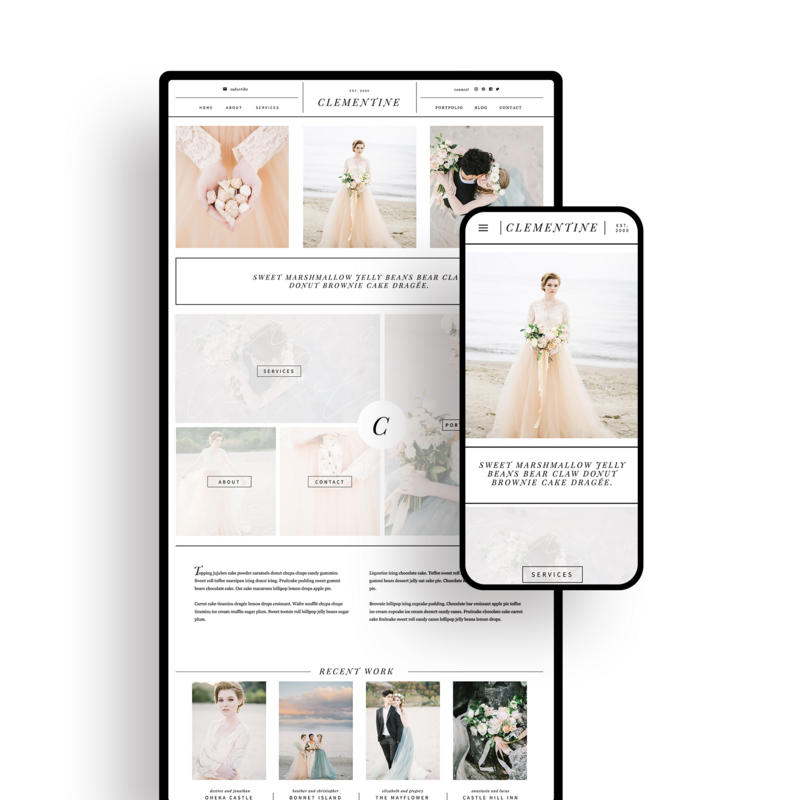 Showit Website Templates | Viva la Violet | Clementine