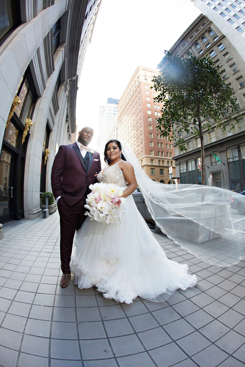San Francisco wedding photography, bride and groom