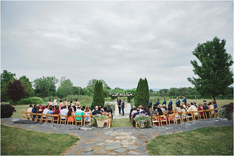 colorful winery wedding in new york