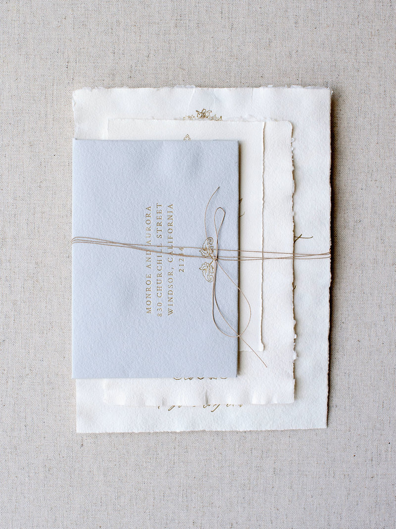 Owl Post Calligraphy Twine Wrap for Invitations