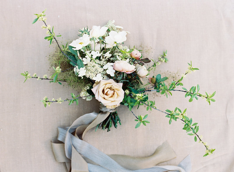 Bouquet for wedding by Jenny Schneider Events in Napa Valley, California. Photo by Eric Kelley Photography.