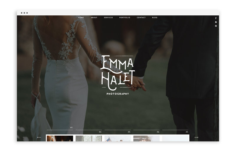 Emma Halet Photography - Custom Brand and Showit Website Design by With Grace and Gold - 22