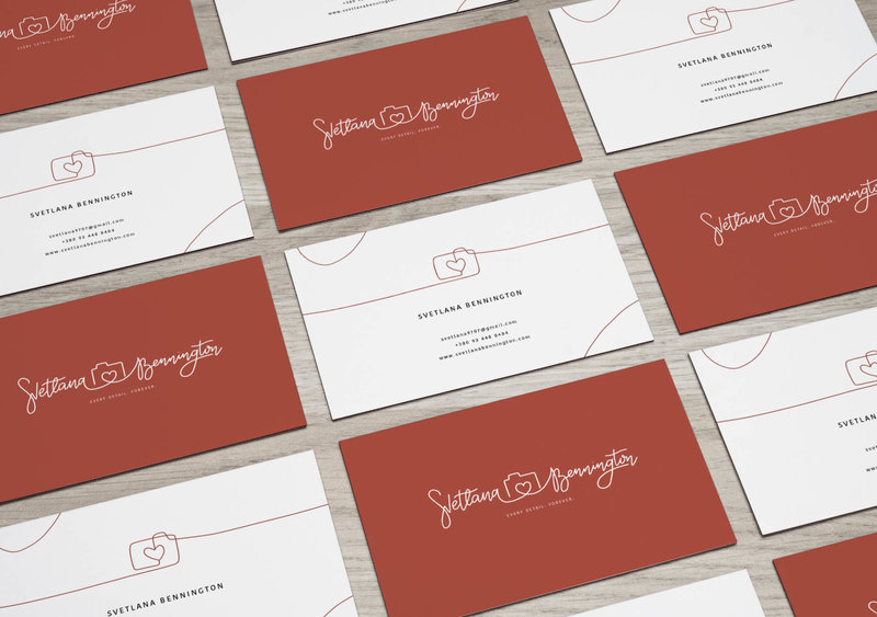 Svetlana Bennington Business Cards Mockup One6Creative