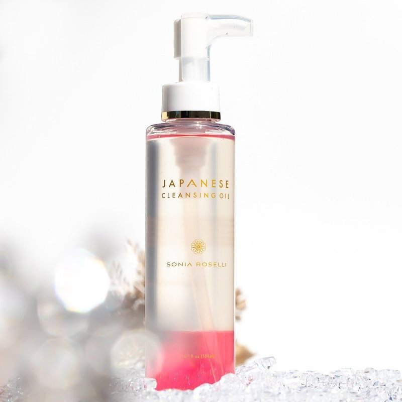 Bottle of Japanese Cleansing Oil by Sonia Roselli Beauty