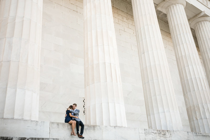 lincoln memorial engagement photographer