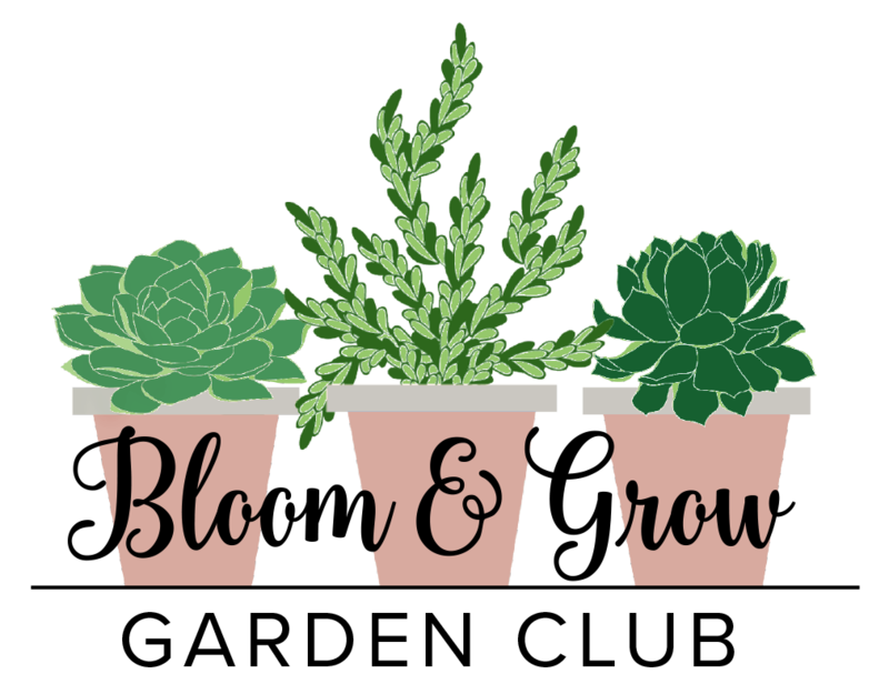 Bloom and Grow Garden Club Logo