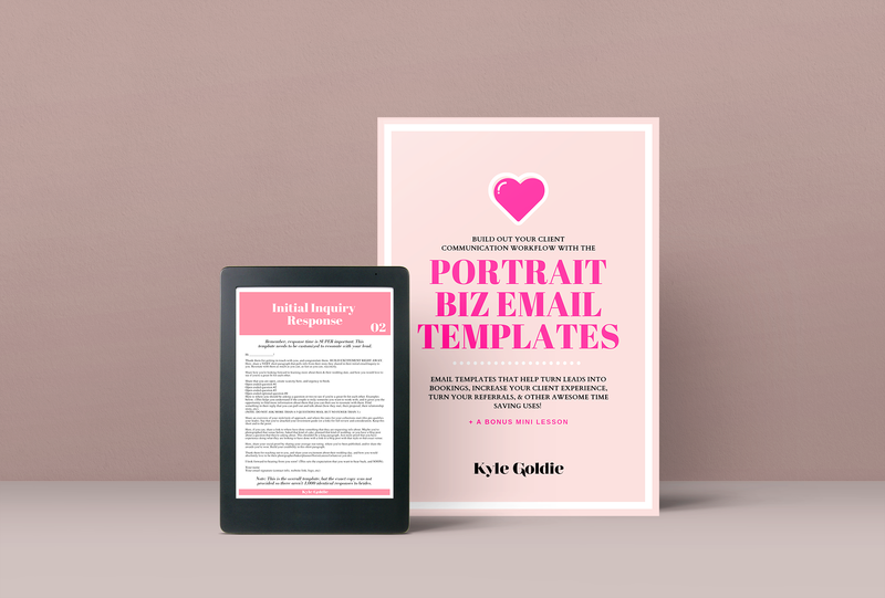 Portrait Business Email Templates Mockup Kyle Goldie