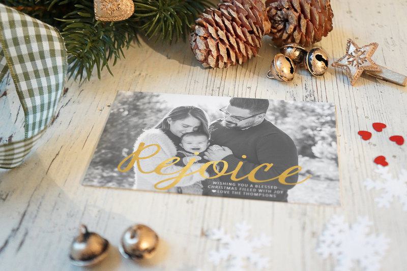 Gold Foil Holiday Cards