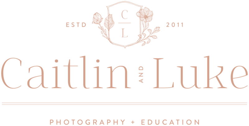 Caitlin and Luke Photography - Custom Brand Logo and Showit Web Website Design by With Grace and Gold - 3