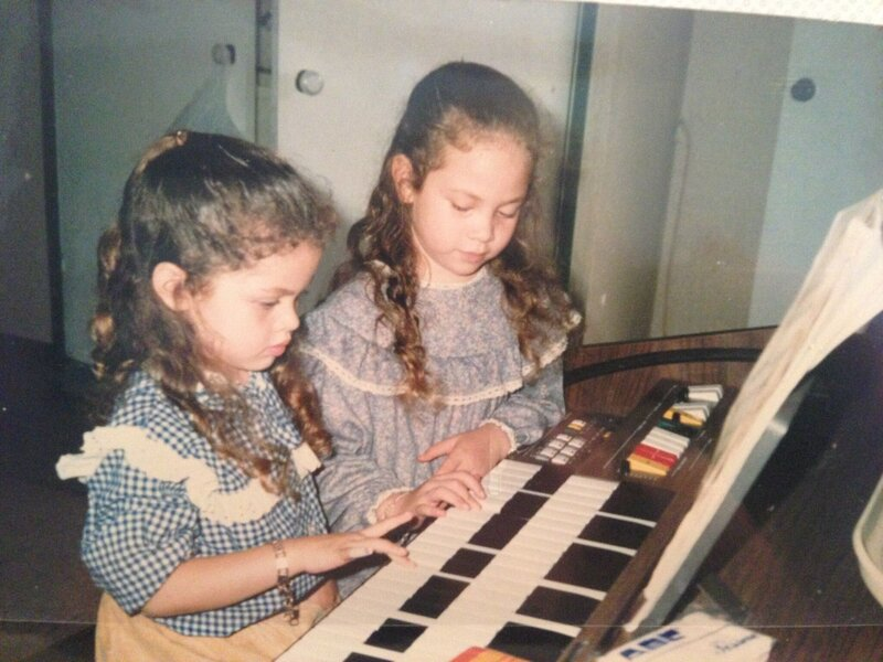 Patrice and Laura started piano young