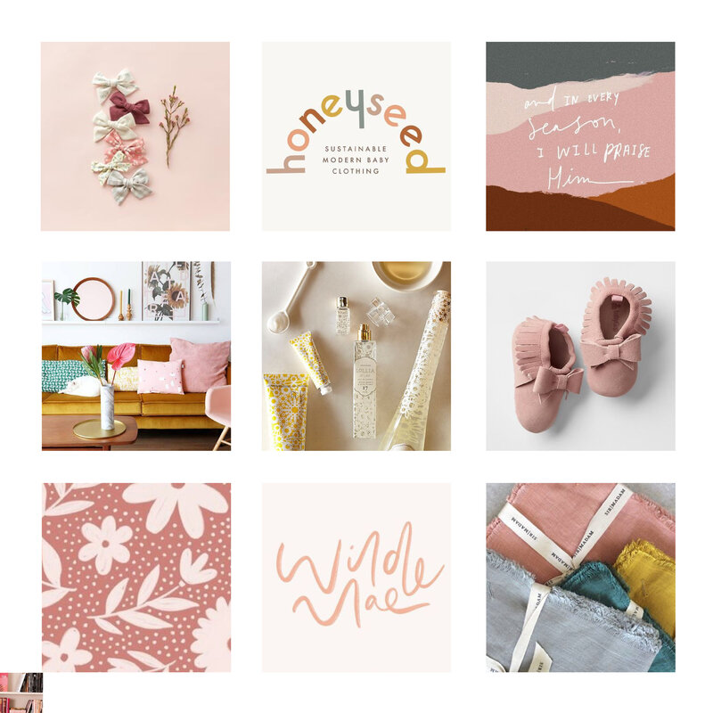 Aniston Lane Brand Mood Board Etsy Shop